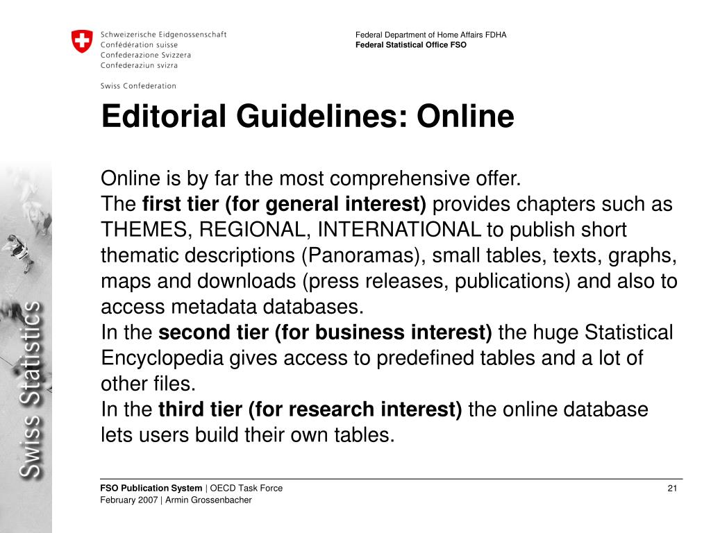 Editorial Guidelines: Online
