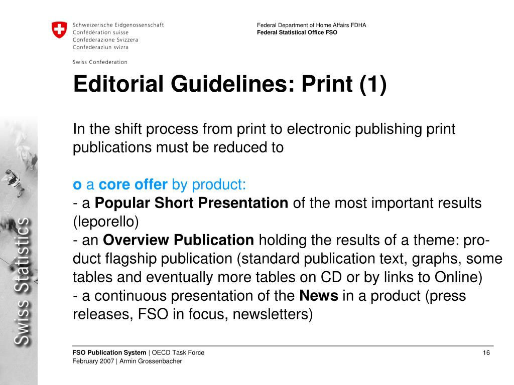 Editorial Guidelines: Print (1)
