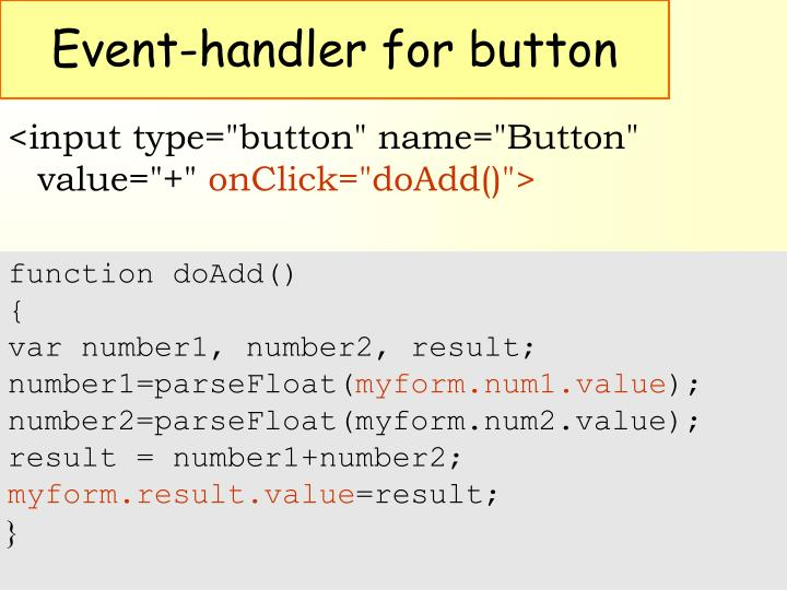 Event-handler for button