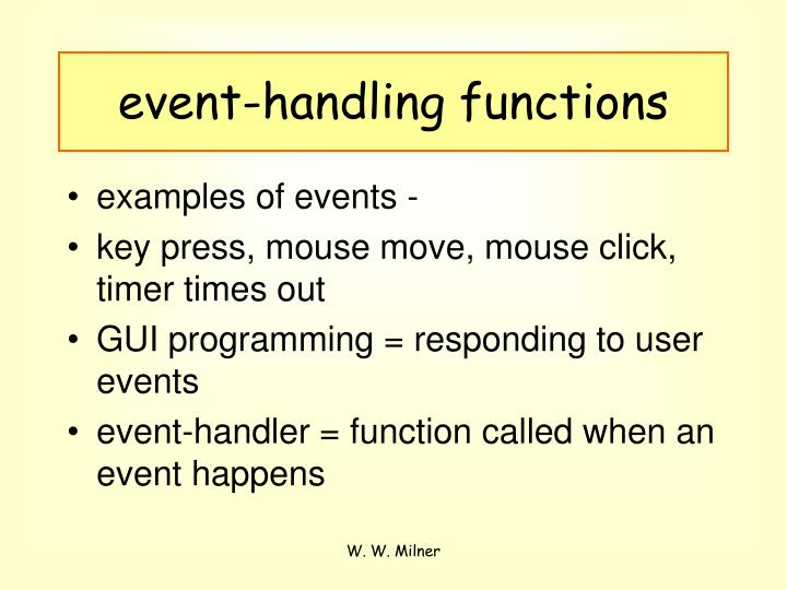 event-handling functions