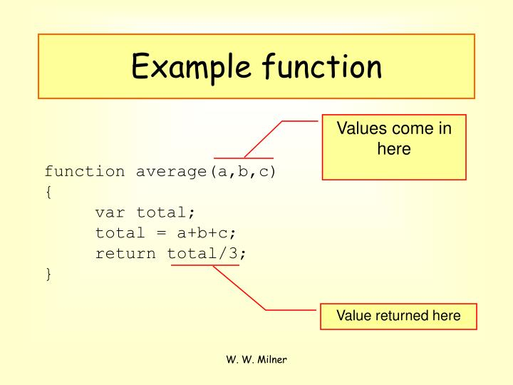 Example function