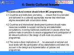 4 socio cultural issues