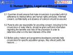 5 human rights legal and ethical issues