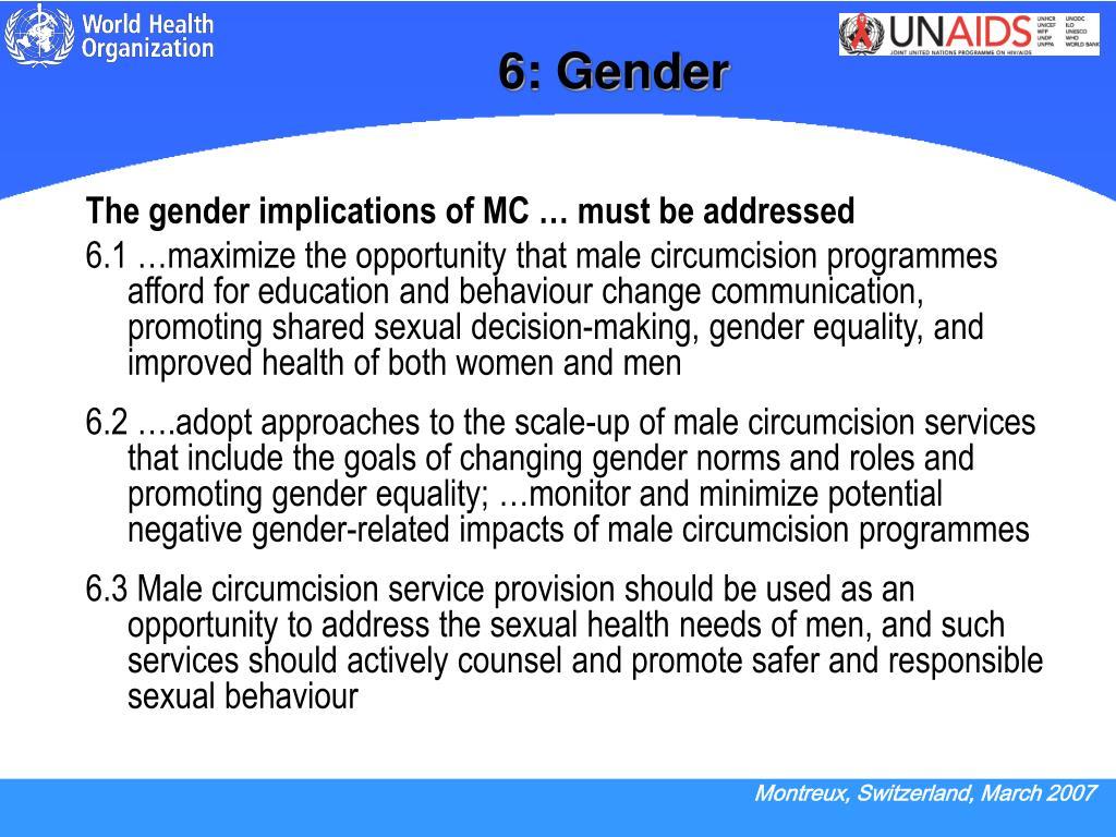 6: Gender