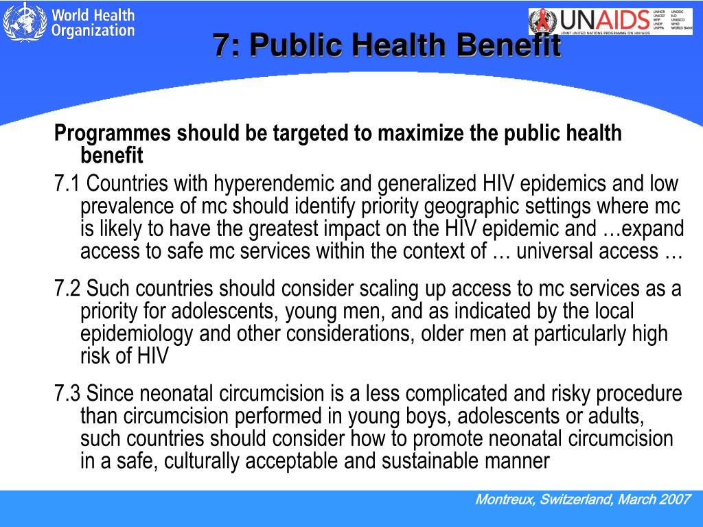 7: Public Health Benefit