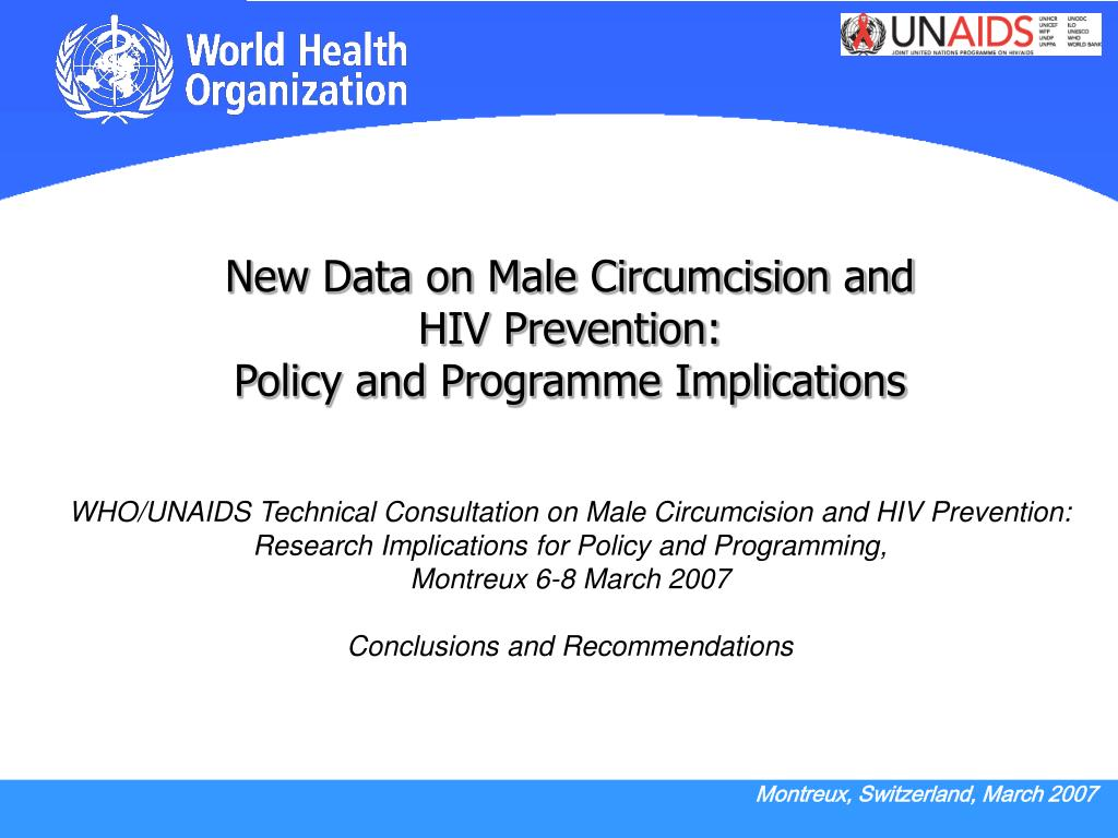 New Data on Male Circumcision and
