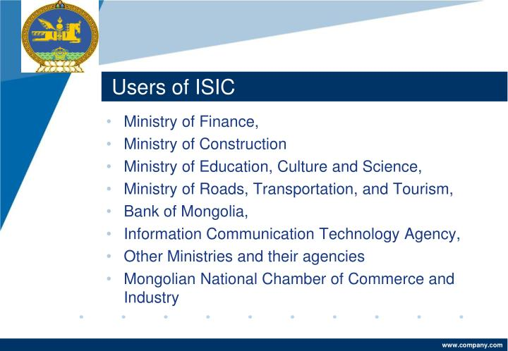 Users of ISIC