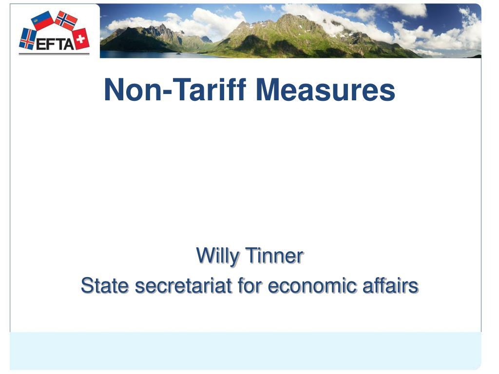 Non-Tariff Measures
