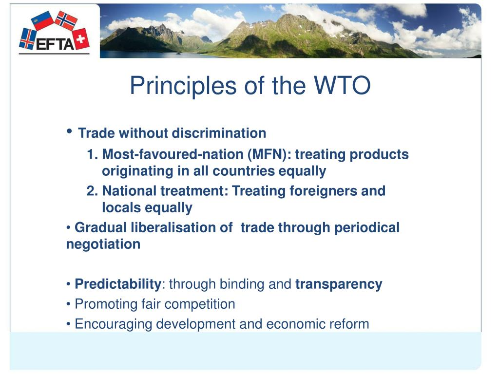 Principles of the WTO