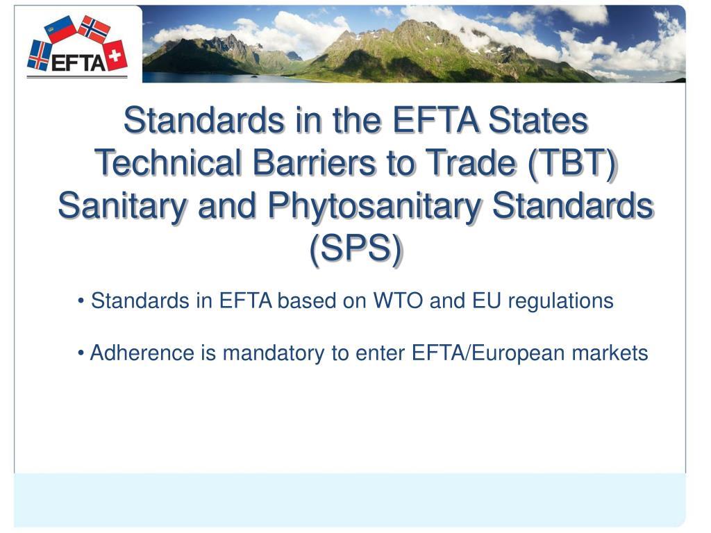 Standards in the EFTA States