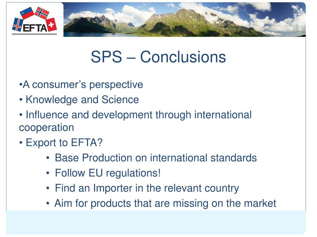 SPS – Conclusions