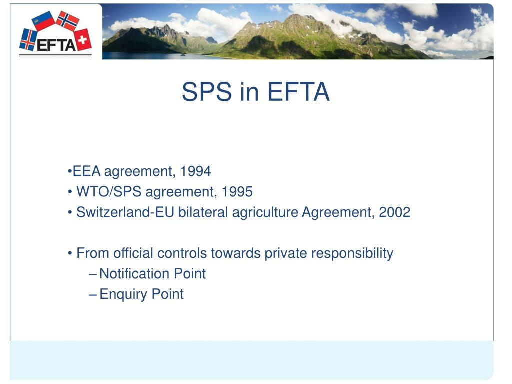 SPS in EFTA