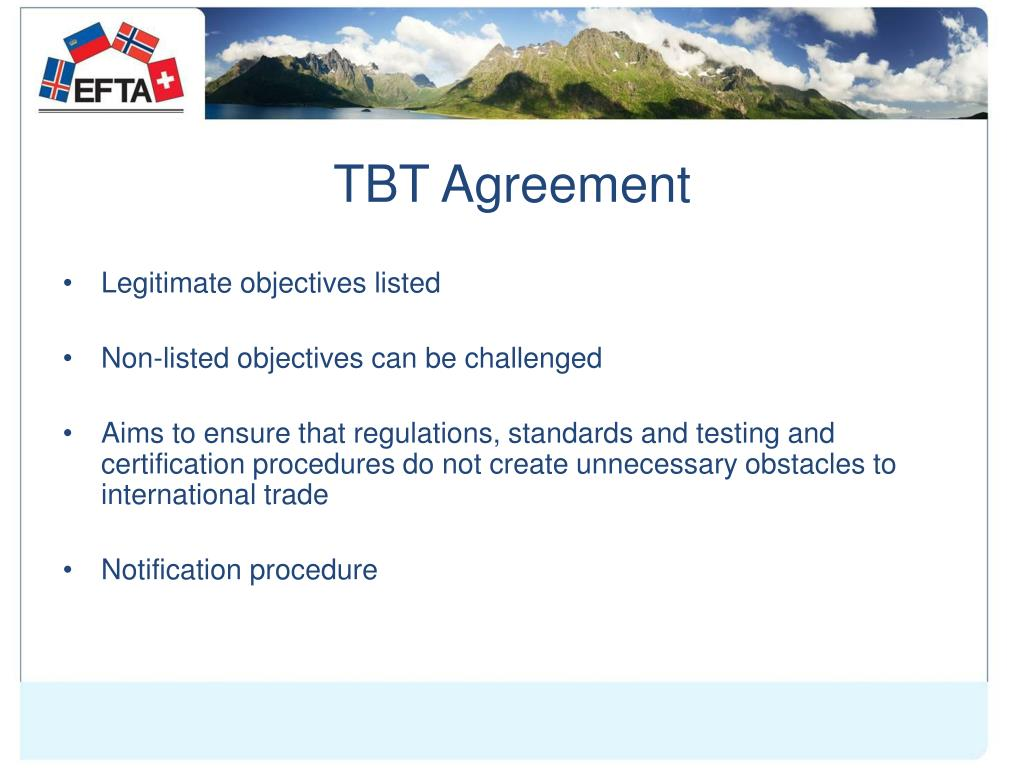 TBT Agreement