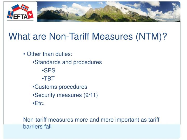 What are non tariff measures ntm