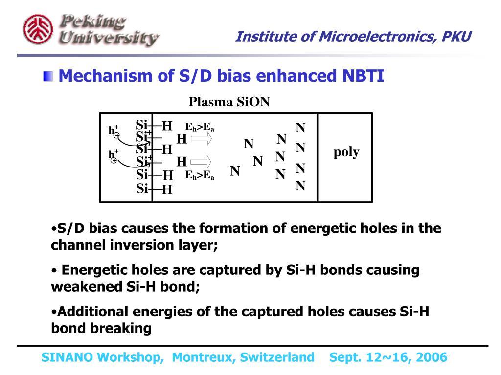 Mechanism of S/D bias enhanced NBTI