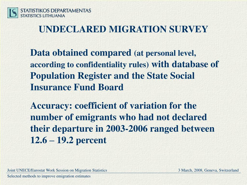 UNDECLARED MIGRATION SURVEY