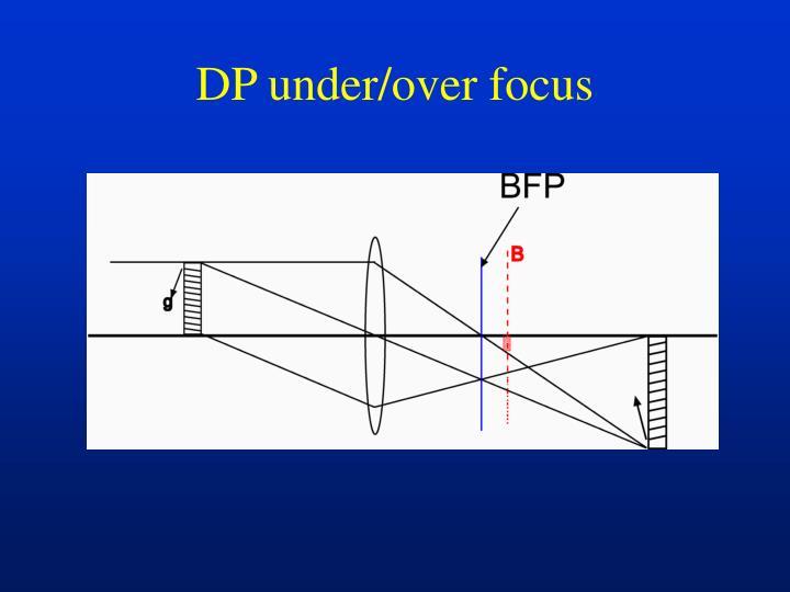 DP under/over focus