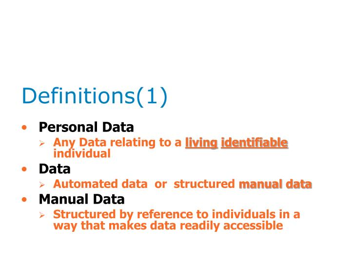 Definitions(1)