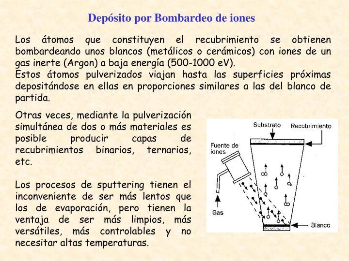 Depósito por Bombardeo de iones