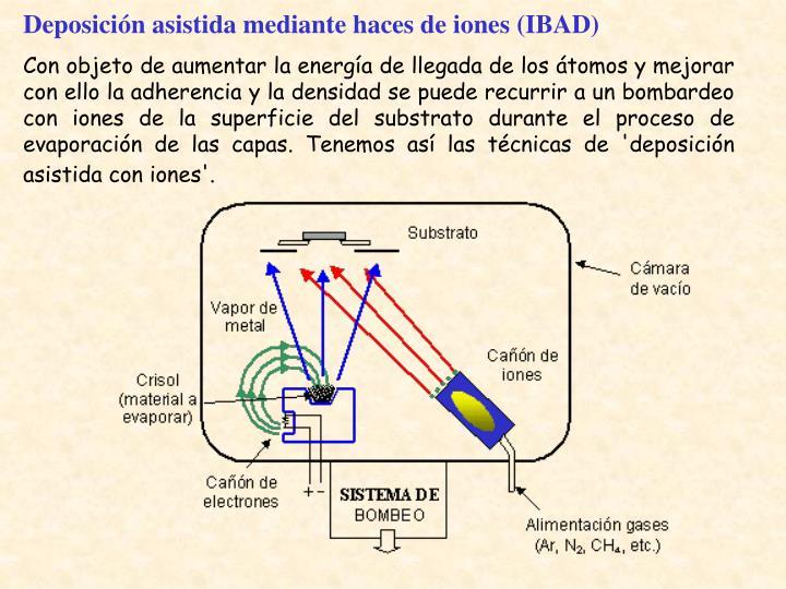 Deposición asistida mediante haces de iones (IBAD)