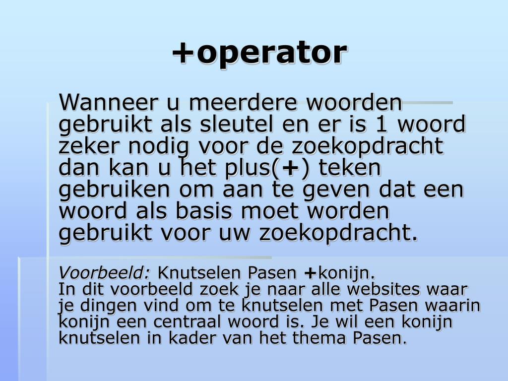 +operator