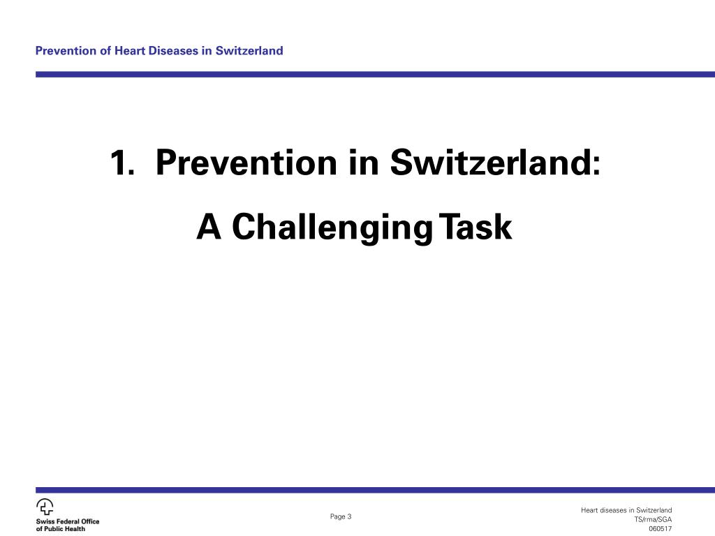 Prevention of Heart Diseases in Switzerland
