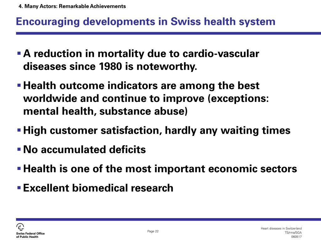 Encouraging developments in Swiss health system