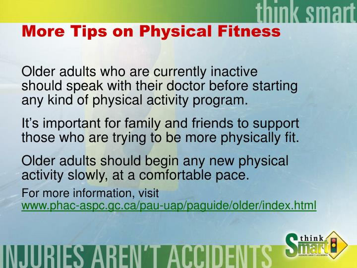 More Tips on Physical Fitness