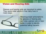 vision and hearing aids