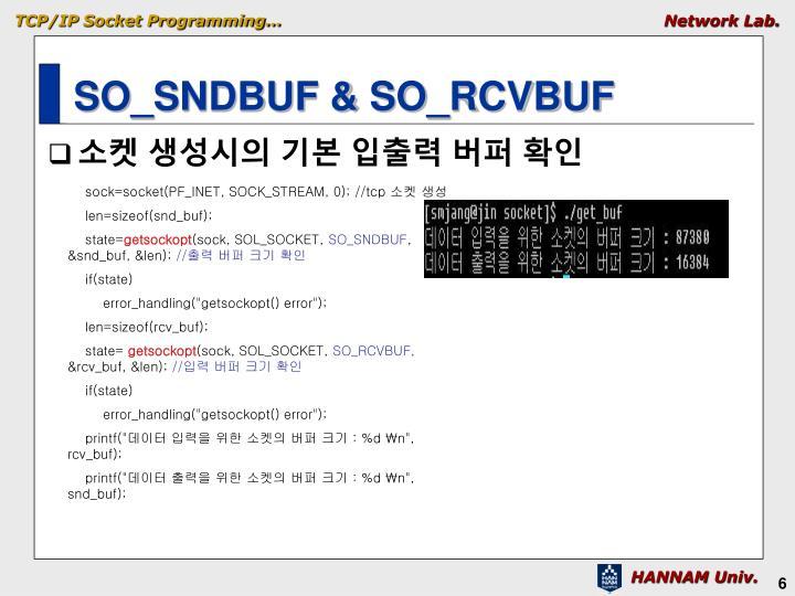SO_SNDBUF & SO_RCVBUF