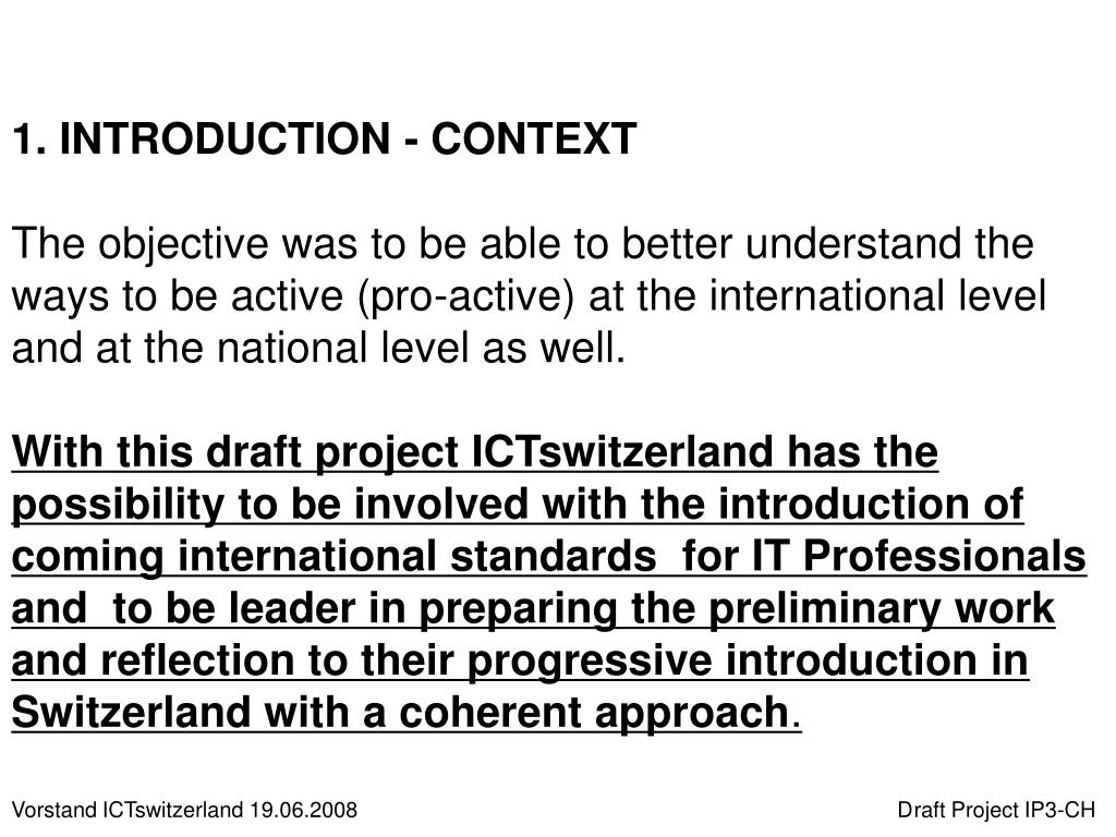 1. INTRODUCTION - CONTEXT