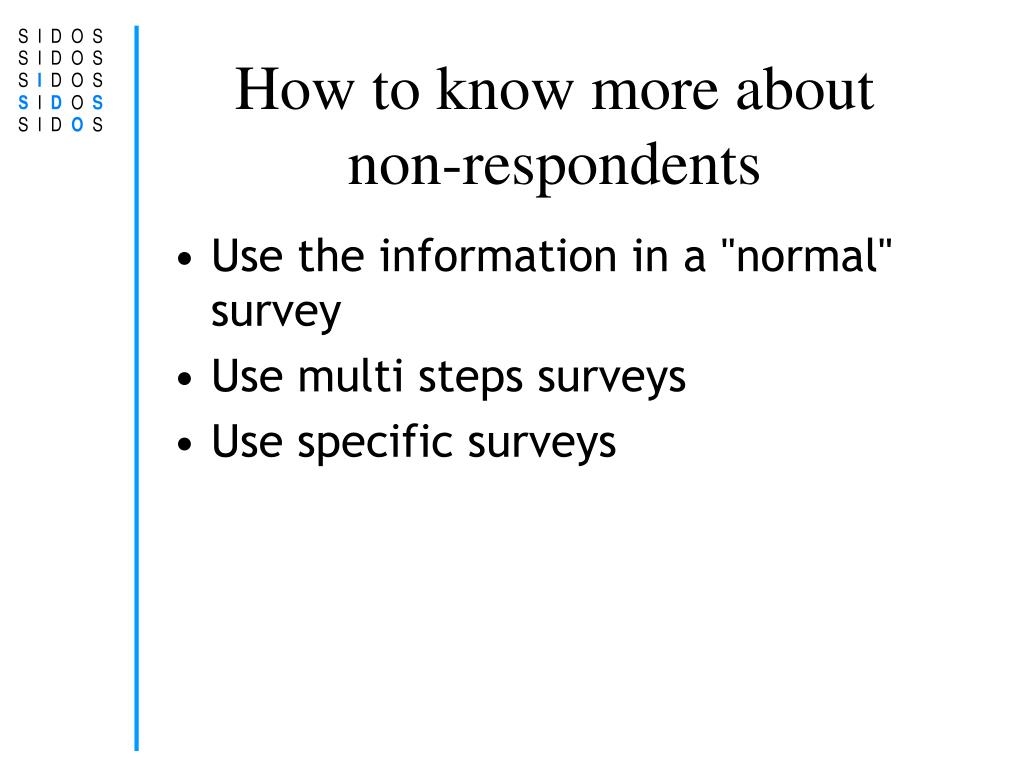 How to know more about non-respondents