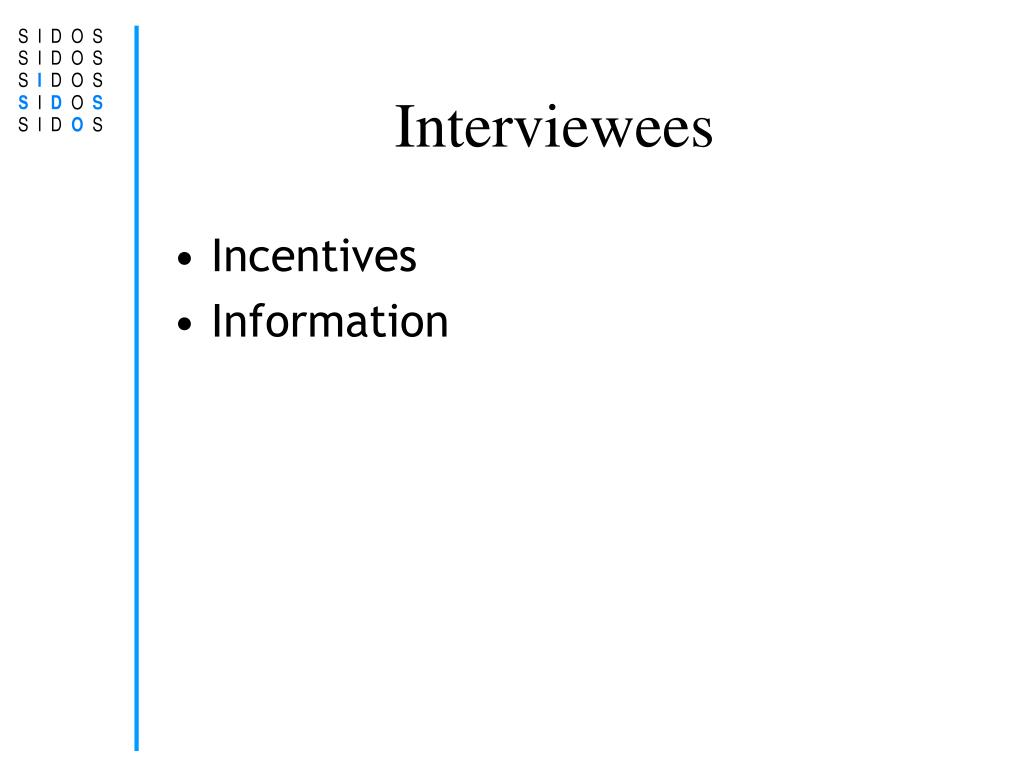 Interviewees