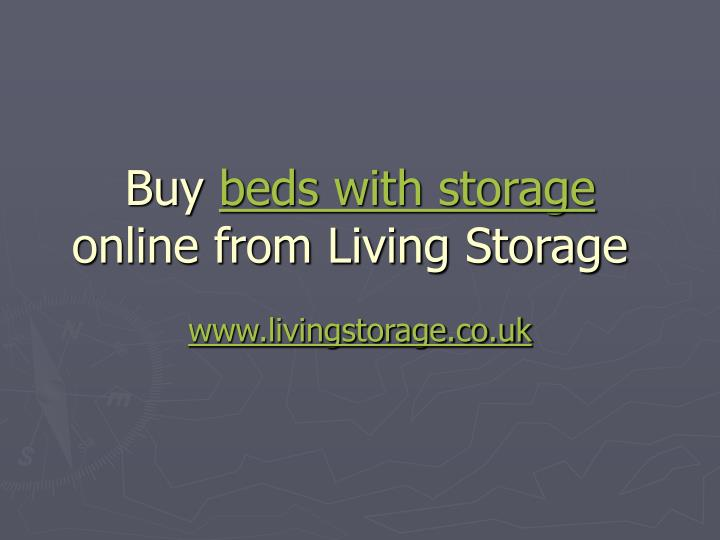 Buy beds with storage online from living storage