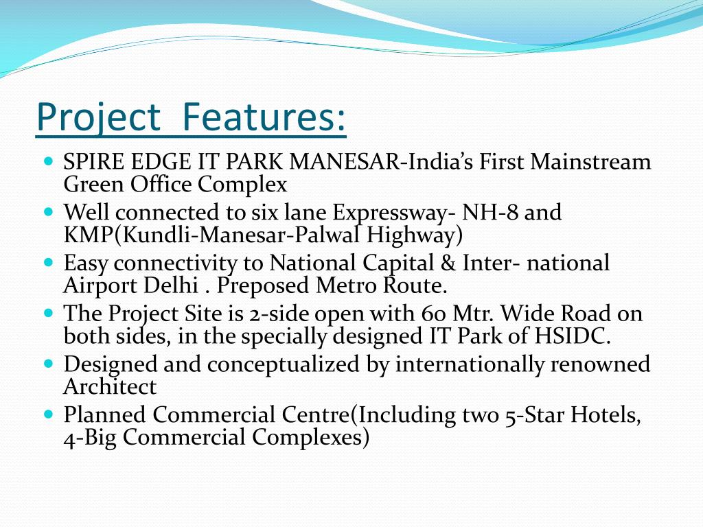 Project  Features: