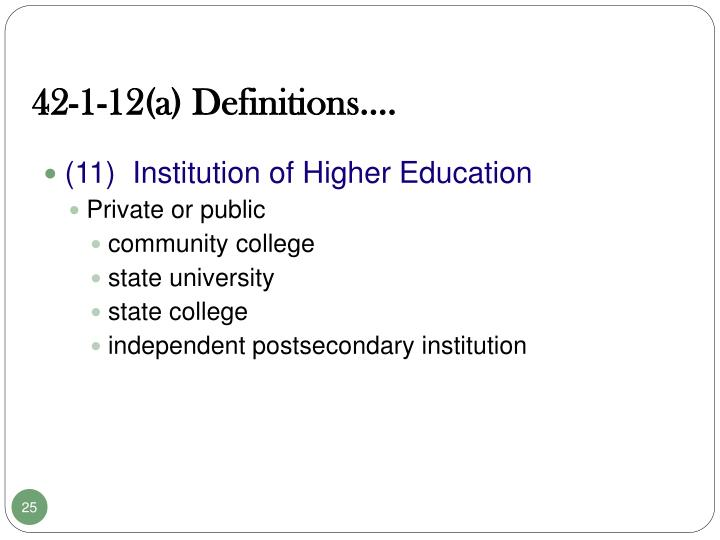 42-1-12(a) Definitions.…
