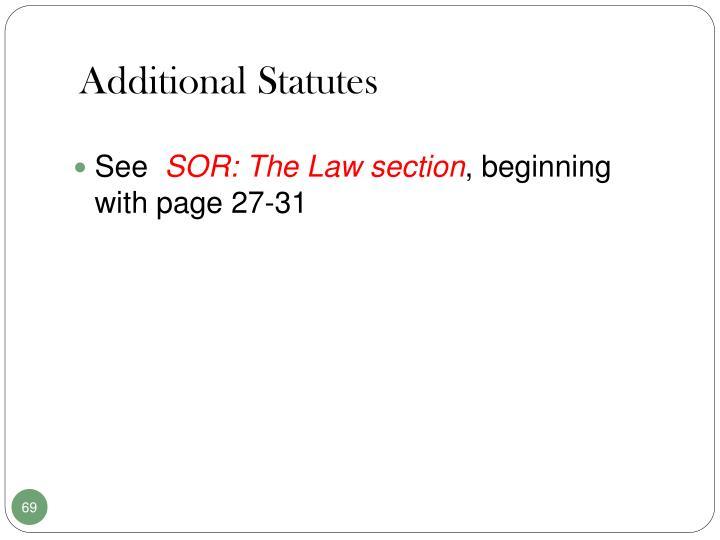 Additional Statutes