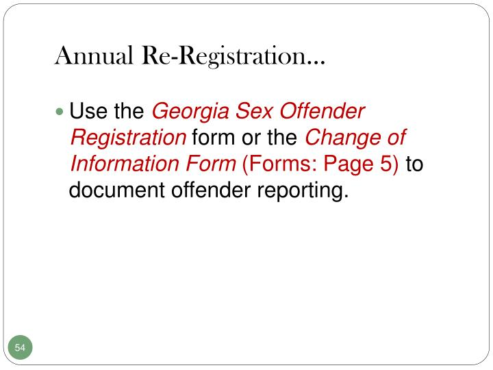 Annual Re-Registration…