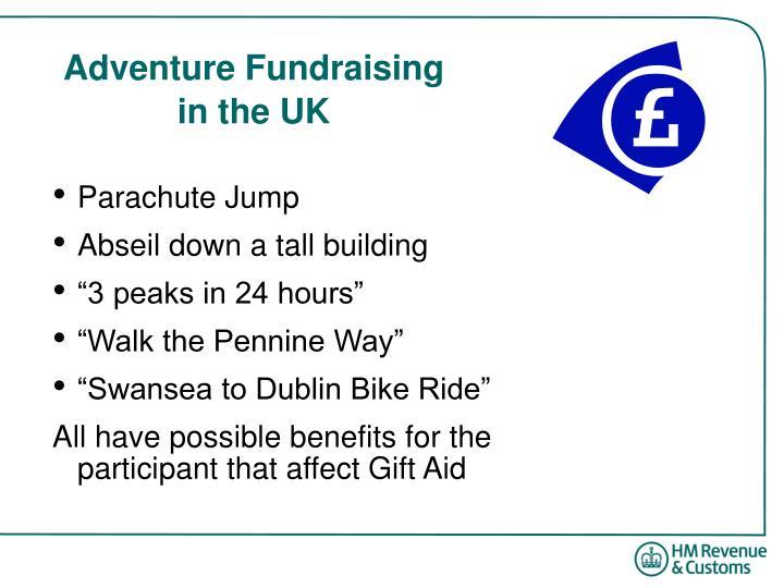 Adventure Fundraising