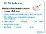 gift aid declaration