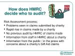 how does hmrc decide who to audit