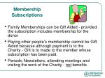 membership subscriptions1