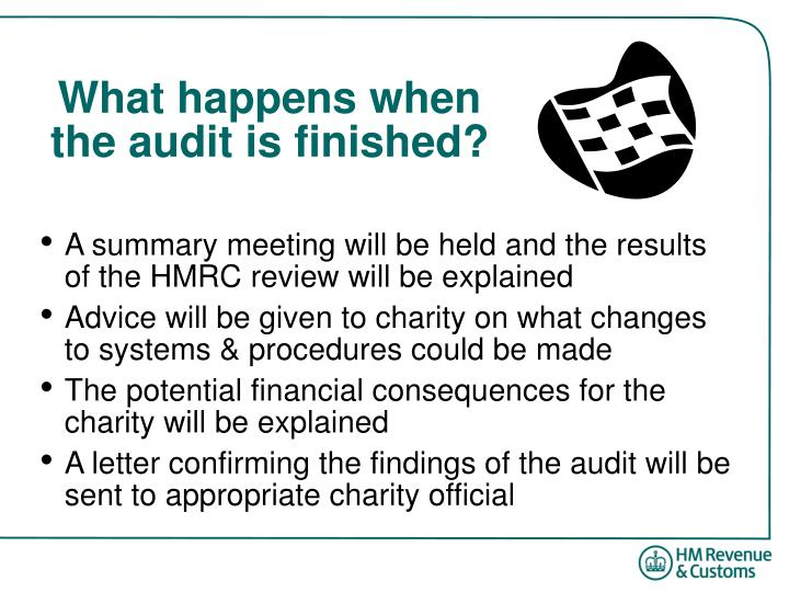 What happens when the audit is finished?