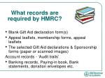 what records are required by hmrc