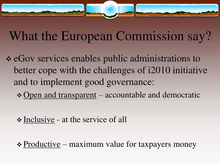 What the European Commission say?