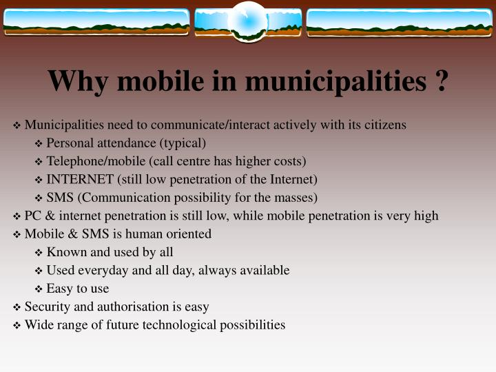 Why mobile in municipalities