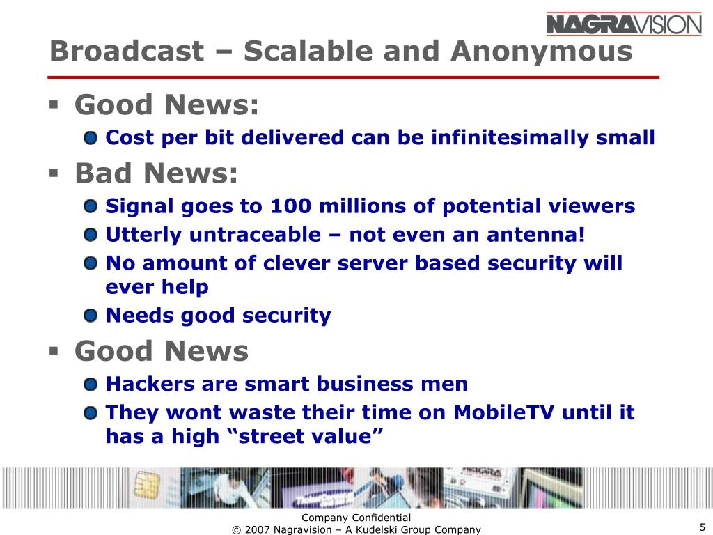 Broadcast – Scalable and Anonymous