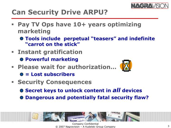 Can security drive arpu