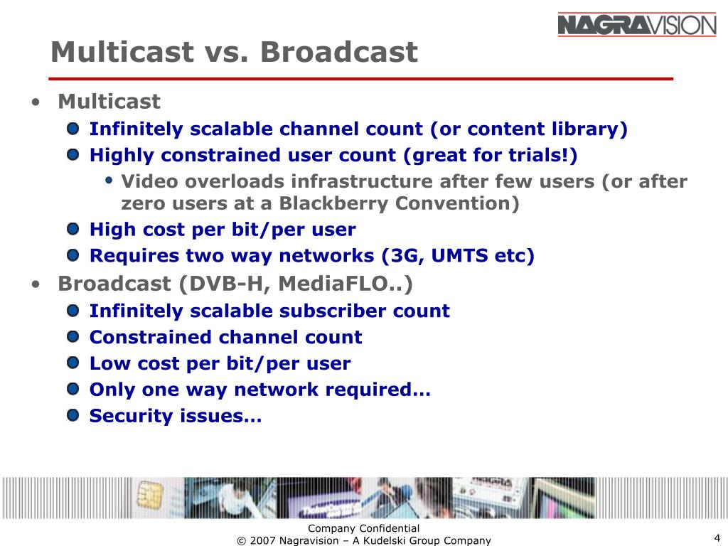 Multicast vs. Broadcast