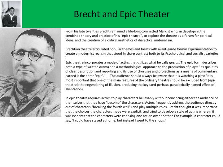 Brecht and epic theater